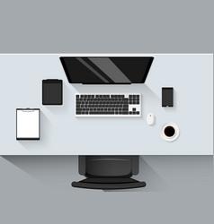 set of flat design modern business office vector image