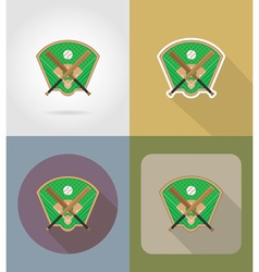 sport flat icons 72 vector image