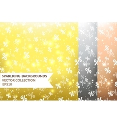 Backgrounds with percents vector