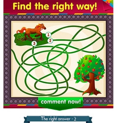 find the right way apple vector image vector image