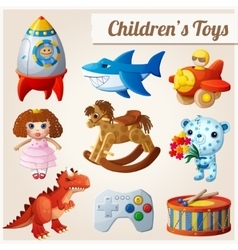 Set of kids toys Part 2 vector image vector image