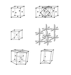 Typical metal lattice vector image