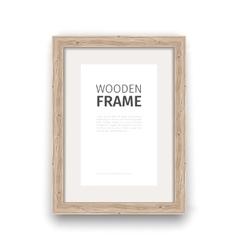 Wooden Rectangle Frame vector image