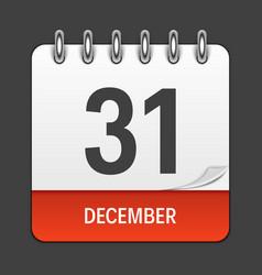 december 31 calendar daily icon vector image vector image