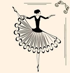 image of ballet dancer vector image