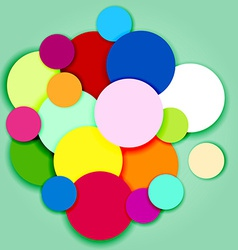 Multicolor circles and labels-3 vector image vector image