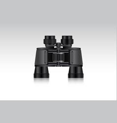 Realistic binoculars for hunter and traveler vector