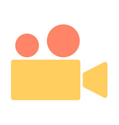 video camera silhouette icon cinema pictogram vector image vector image