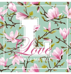 Vintage colorful flowers graphic design vector