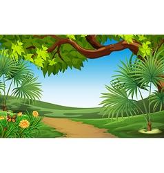 A beautiful landscape vector image vector image