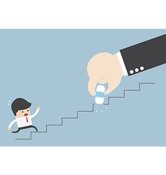 Business rival concept Businessman hand holding e vector image vector image