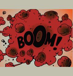 comic book boom vector image vector image
