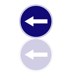 mandatory direction to the left vector image