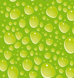 Seamless green pattern with water drops vector image