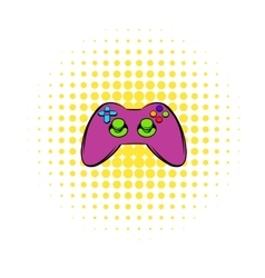 Video game controller icon comics style vector image vector image