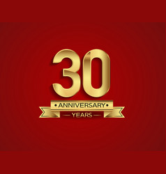 30 years anniversary golden design color vector