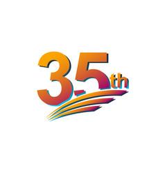 35 th anniversary elegant celebration template vector