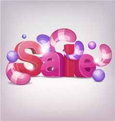 3d sale vector image vector image