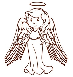 A simple sketch of an angel vector