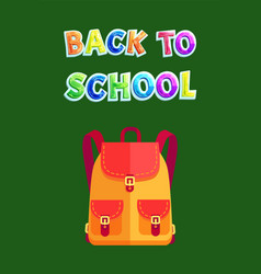 Back to school backpack poster vector