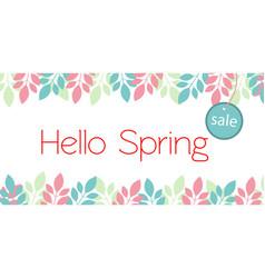 banner hello spring sale vector image
