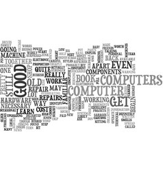 Become your own pc repairer text word cloud vector