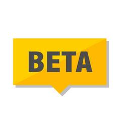Beta price tag vector