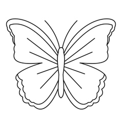 Big butterfly icon outline style vector