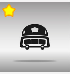black police helmet icon button logo symbol vector image