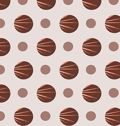 Brown polka dot patterns vector