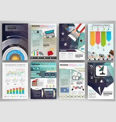 business brochure template with infographic vector image