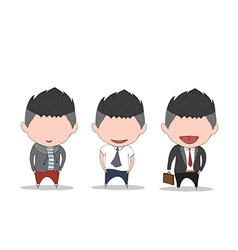Businessman happy between level up position job vector