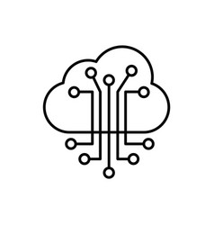 cloud smart information network icon vector image