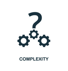 Complexity icon simple element from business vector