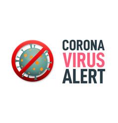 Corona virus alert corona virus outbreak banner vector