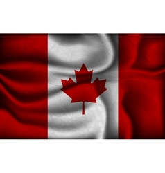 crumpled flag canada on a light background vector image
