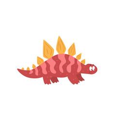 cute cartoon dinosaur prehistoric dino character vector image