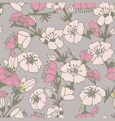 cute flower seamless pattern vector image