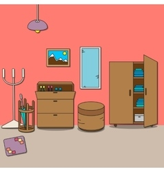 Design of room - hallway vector image