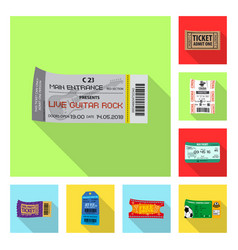 design of ticket and admission symbol vector image