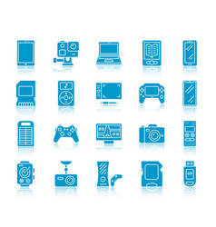 device color silhouette icons set vector image