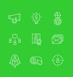 digital marketing linear icons vector image