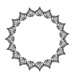 elegant frame circle decoration isolated vector image