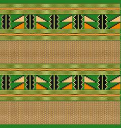 ethnic seamless pattern cloth kente tribal print vector image