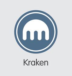 Exchange - kraken crypto coins or vector