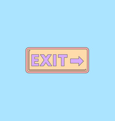 Exit way sign in flat style vector