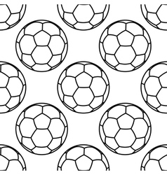 Football or soccer balls outlines seamless pattern vector