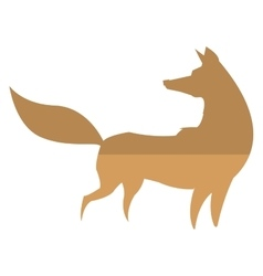 Fox silhouette icon vector