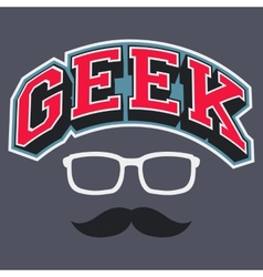 Geek T-shirt Typographic Design vector
