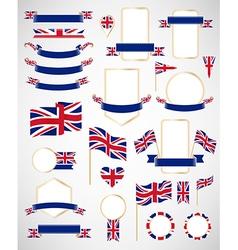 Great Britain flag decoration elements vector